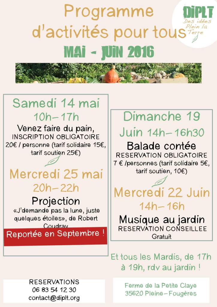 Programme Avril mai juin 2016