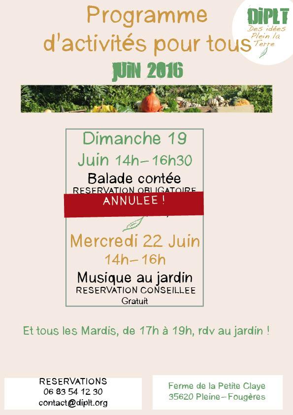 Programme juin 2016